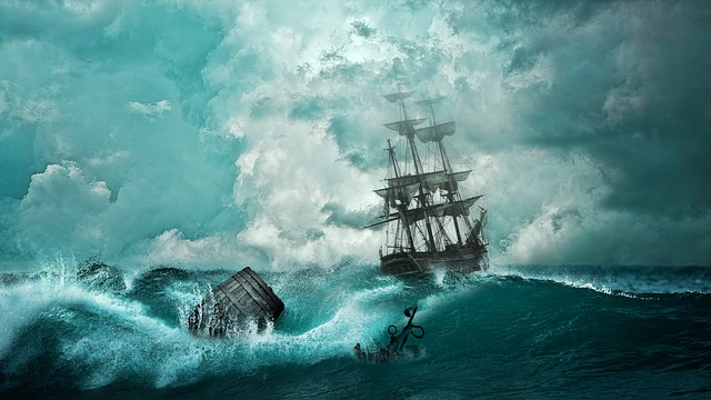navire qui traverse les flots