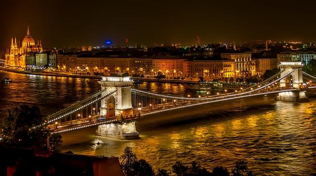 Pont de la chaîne, Budapest, Hongrie