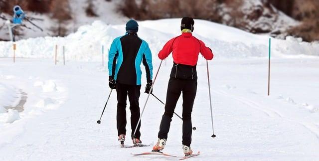 deux skieurs dans la neige