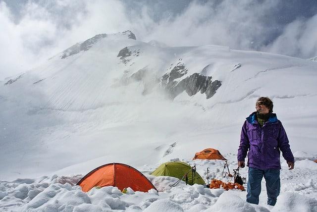 camper en haute altitude