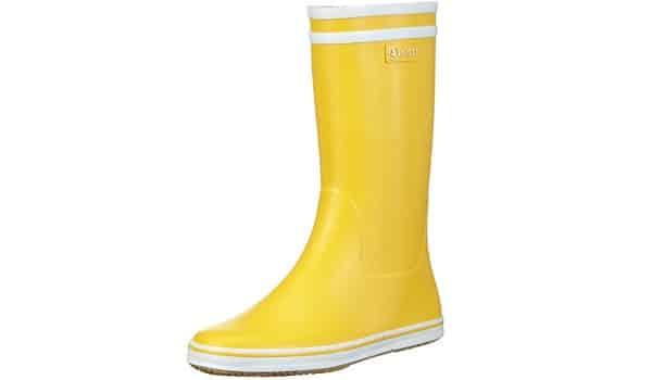 botte de pluie jaune pour femme