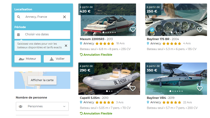 exemple location samboat annecy